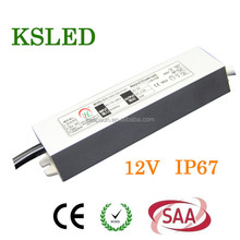 DC 12V 45w switch model power supply IP67 waterproof led driver High quality