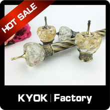 KYOK Classic resin curtain pole finial/end, European style curtain pipe bracket, 25/28 curtain rod/tube wholesale