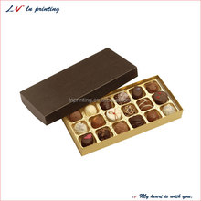hot sale chocolate boxes packaging with customized design in shanghai