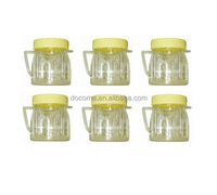 8 oz mini jars with lid fitting for oster and osterizer blenders/ plastic mini jar with lid