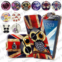 For Samsung Galaxy Note 2 N7100 Folio Print Flip Leather Case Phone Bag Back Cover Bags