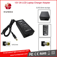 universal external laptop battery charger AC 12V laptop charger adapters with CE/FCC/RoHs certification chargers