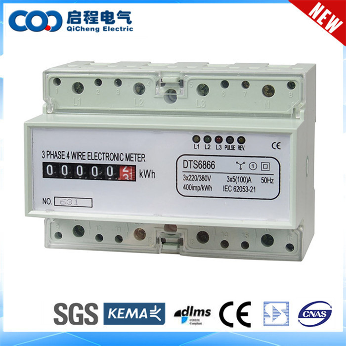 Analog Power Meter : Multi failure self testing p din rail three phase analog