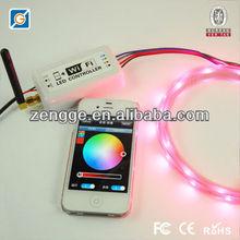 Ipad/Iphone wireless remote control wifi rgb led strip light controller