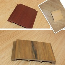 China manufacturer wpc pvc wall claddings with real wood texture