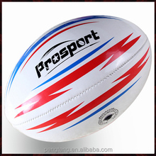 official size 6 machine stitched custom pvc rugby ball