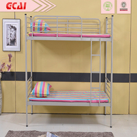 Morden very strong simple design heavy duty cheap metal detachable bunk bed for home