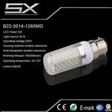 12V DC 5W LED Bulb Light b22,LED bulb for solar system and other DC Power System