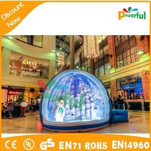 2015 new design inflatable snow globe for commercial activity, take photo inflatable human snow globe dome for sale