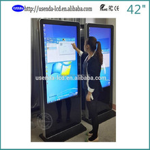42inch kiosk ad media player free music video download with touch screen
