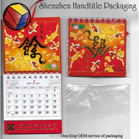 Wholesale chinese printed custom large paper wall calendar for 2016 new year gift desk calendars