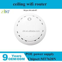 300Mbps Internal 3dBi omni gain antenna wireless 802.11n ap router/poe ceiling ap