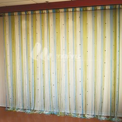 Multi color modern living room custom lace curtains