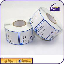 self adhesive water proof thermal price labels for zebra printers heat sensitive