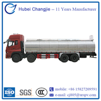 Dongfeng 8x4 stainless steel truck milk tank