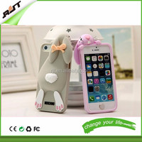 Hotsale 3D Luxury Cute Silicone Cartoon Rabbit Bunny Phone Case Cover For iPhone 5 5S 6