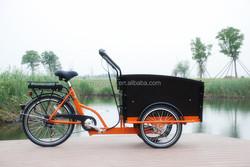 """2015 hot sale new model three wheel 20""""/24"""" Electric Cargo Bike/bakfiet/cargobike model UB9031E"""