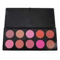 10 Color Blusher Powder Palette Pro Multicolor Makeup Cosmetics Face Blush Shades Nature Long-lasting Beauty Tools