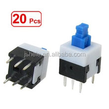 6 pin DPDT mometnary tactile tact push button switch 8*8 mm*17mm