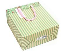 hot sale custom gift luxury recycle cute printed art white kraft shopping paper bag