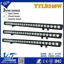 Y&T 40'' 240W Straight Single/Clear Lens White and Amber Lamp/ Front Position 40'' Jeep Wrangler JK