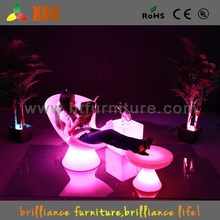 16 colors PE material illuminated LED beach chair