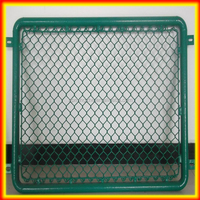 High quality 4*2.5*2m Galvanized chain link breeding dog cage(proffessional factory)