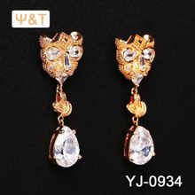 2016 Beautiful 14k gold pearl & tourmaline pave diamond earring ear clip heart rate monitor ethnic earrings for women online