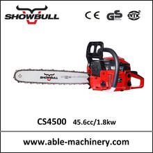 2-stroke crankcase start gas chain saw as body of chainsaw