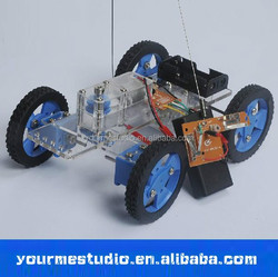 DIY production assembly material package gearbox Steering car Model handmade toys