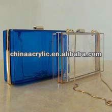elegant and luxury acrylic transparent clutch