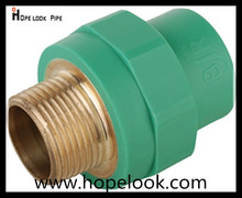 Long using life Polypropylene ppr pipe fitting 50*3/2mm ppr male socket