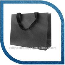 black paper bag for shopping