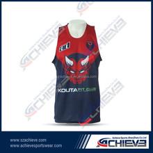 wholesale basketball tops/basketball singlet wear
