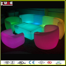 LED sofa furniture/indoor led sofa for bar nightclub using