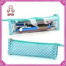 Custom wholesale waterproof plastic pencil case - PVC pencil case with zipper