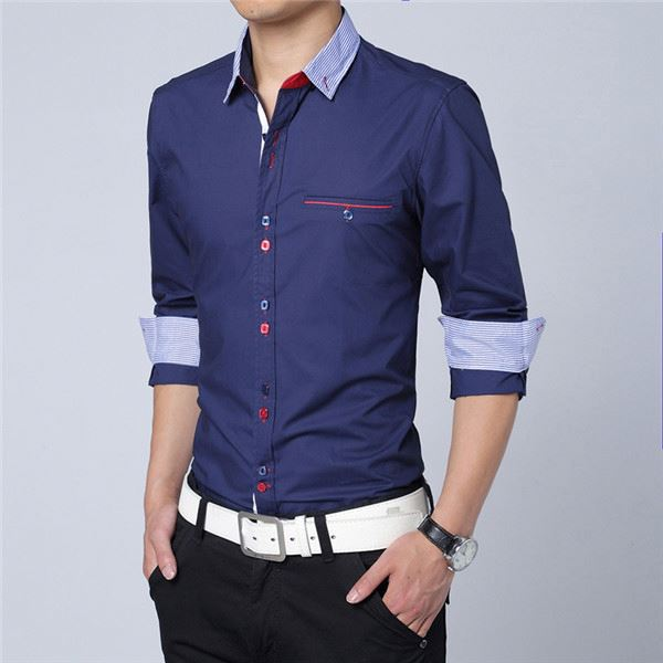 Royal Blue Mens Shirt