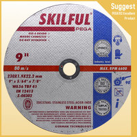 SKILFUL 230mm resin bonded inox special wheel with MPA EN12413 abrasive ultra thin cutting disc