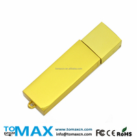 Free Logo Gold bar 16G metal USB stick CE FCC ROHS approval Accept paypal