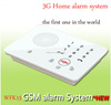 3G GSM security alarm with touch keypad, 2 wired and 99 wireless zone with PIR detector,gsm alarm system with two wayc