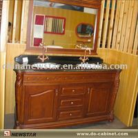 Double sink bath vanity with Shanxi black vanity top