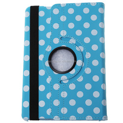 PU Leather Polka Dot Magnetic Smart Wave Point Cover for iPad 2/3 With Folding Stand Holder Function
