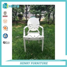 Hot Selling Ourdoor White Louis Ghost Chair