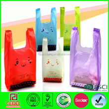 Plastic Grocery Shopping Bags T-shirt Plastic Bag Wholesale Blue