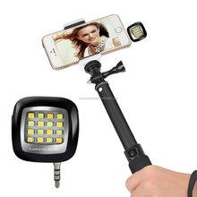 Mini Flashing Led Lights Universal 3.5mm Fill-In Light for Mobile Cell Phone Selfie Stick External LED Flash