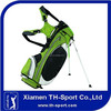 Nylon golf stand bag with fabric strap