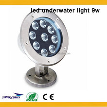 RGB 9w 12w 15w 18w Led Fountain Light For Pools,IP68 Led Underwater Light with CE ROHS