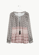 OEM Service Supply Type print blouse for women