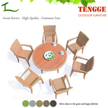 Home And Garden Synthetic Rattan Furniture Round Table With 6 Chair