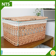 Lastest Design Miniature Bike Wicker Basket Decoration